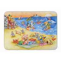 Animals Swimming at the Beach Machine Washable Memory Foam Mat APH6822RUG