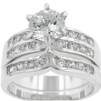 Fatima Round Cut Engagement Wedding Ring Set | 2.5ct | Cubic Zirconia