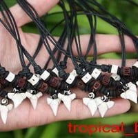 Brown and White Beads Necklace with Pendant