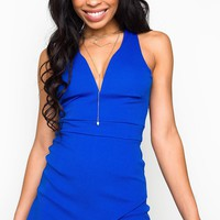 Little By Little Romper - Royal Blue