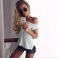Sexy Autumn knitwear Women Knitted Loose Crop Tops sleeveless Casual Strap Knitting Casual Tank Tops 2016