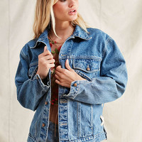 Urban Renewal Recycled Corset Denim Jacket   Urban Outfitters