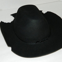 The Walking Dead Comic Series Inspired Carl Grimes Hat Rick Sheriff Black Childs Size Cosplay Costume