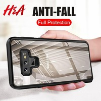 H&A Silicone TPU Acrylic Transparent Phone Case For Samsung Galaxy Note 9 Ultra-Thin PC Cover For Samsung Note 9 Protective Case