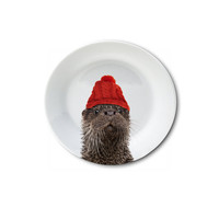 """Holiday Appetizer Plate 6"""" - Olly the Otter"""