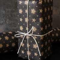 Black Star Christmas Wrapping Paper 3m