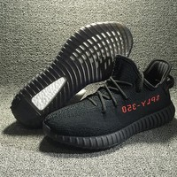 Adidas Yeezy Boost 350 V2 Black Red Running Shoes