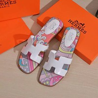 Hermes H slippers