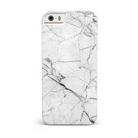 Cracked White Marble Slate iPhone 5/5S/SE INK-Fuzed Case