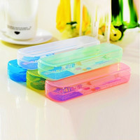 Candy Color Travel Tooth Brush Holder Cover Case Box Tube Keep Lean = 1958122052