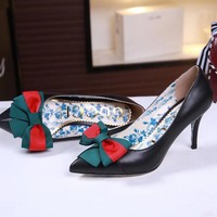 2020 New Arrivals LV Louis Vuitton Women Trending Leather Black High Heel Shoes Best Quality