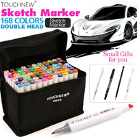 TOUCHNEW 30/40/60/80 Colors Artist Dual Head Sketch Copic Markers Set for Manga Marker School Drawing Marker Pen Design Supplies