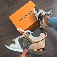LV Louis Vuitton classic hot sale color matching casual shoes sneakers