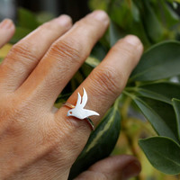 $35.00 Flying Bird Custom Ring by meltemsem on Etsy