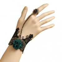 Leegoal Antique Look Gothic Style Punk Rock Lace Wristband Bracelet Ring