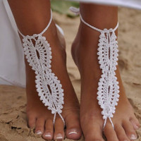 Pair of Chic Openwork Weaved Lace Up Barefoot Sandals For Women
