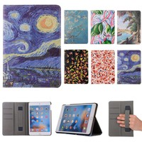 For Ipad Pro 10.5 Vincent Van Gogh Starry Sky Oil Painting For Apple Ipad Pro 10.5'' Vintage Art Painted Pattern Tablet Case