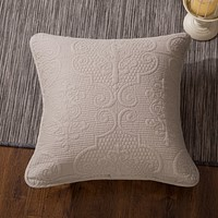 """DaDa Bedding Set of 2 Sand Dollar Square Throw Pillow Covers, 18"""" x 18"""",  2-PCS (JHW-585-CC)"""