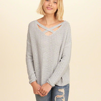 Girls Strappy Reversible Sweater | Girls Tops | HollisterCo.com