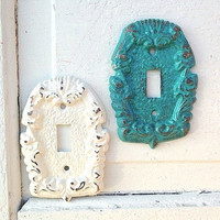 Colorful Light Switch Cover Plates, Single Light Switch, Distressed, Anthropologie-Spring-Summer