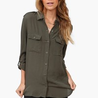 Treasure Blouse in Olive
