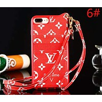 LV Louis Vuitton New fashion monogram tartan leather case protective cover phone case