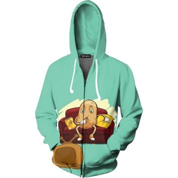 Couch Potato Zip Up Hoodie