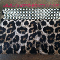 Studded Leopard iPad 3 Case Silver OR Gold OR Black Studs