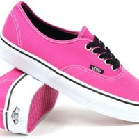 Vans Authentic Shoes Beetroot Purple & Black (9)
