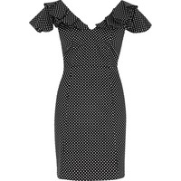 Black polka dot spot mini bodycon dress - Bodycon Dresses - Dresses - women