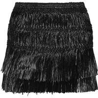 Isabel Marant - Copal fringed faux raffia mini skirt