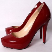 Christian Louboutin CL Fashion Heels Shoes Red