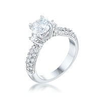 Nikita Round Solitaire Engagement Ring | 2.5ct | Cubic Zirconia | Silver