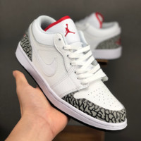 Air Jordan 1 Phat Low AJ 1 White Cement Sneakers - Best Deal Online