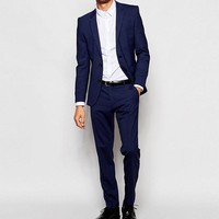Selected Homme Blue Travel Suit with Stretch in Slim Fit at asos.com