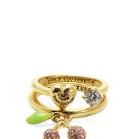 Gold Pave Cherry Ring Set by Juicy Couture,