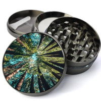 Trees in Forest Deluxe Metal 5 Piece Herb Grinder With Fine Screen