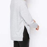 New Look Side Split Sweatshirt at asos.com