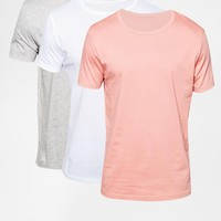 ASOS T-Shirt With Crew Neck 3 Pack Save 17%