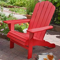 Environmentally Friendly Eucalyptus Wood Adirondack Chair in Red