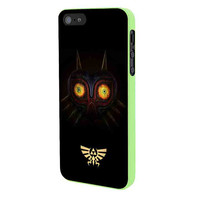 The Majora Mask Legend Of Zelda Gold iPhone 5 Case Framed Green