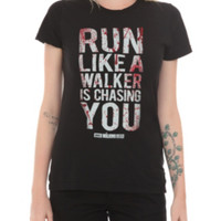The Walking Dead Run Like A Walker Girls T-Shirt