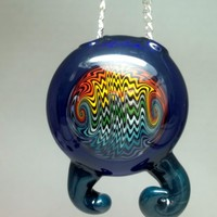 Hollow Reversal Pendant with Horns by Ed DuBick