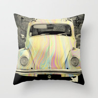 groovy beetle Throw Pillow by ingz
