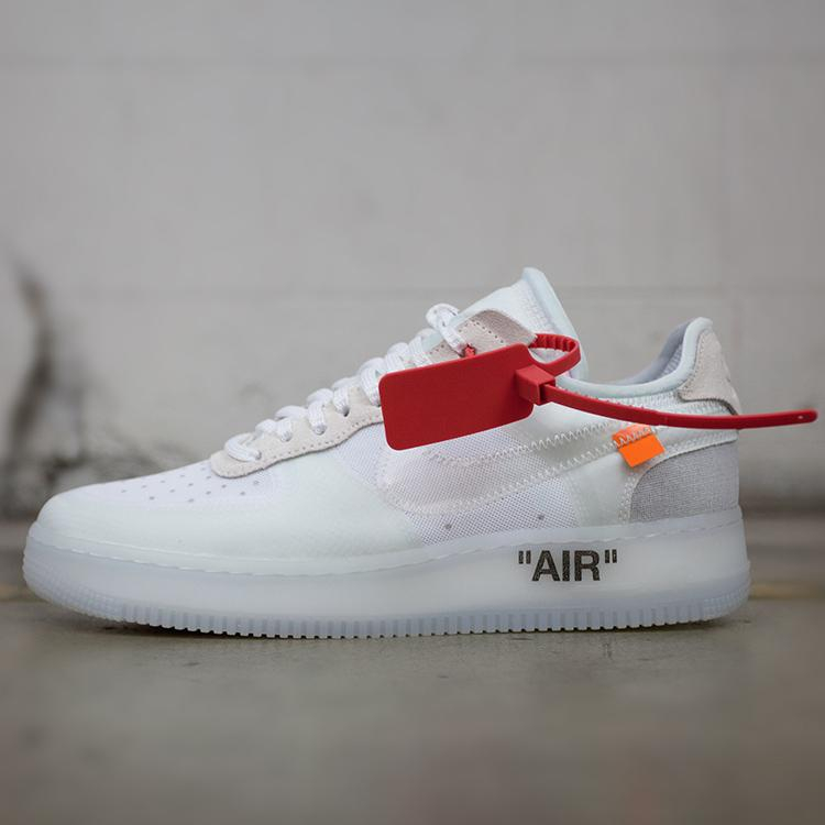 Image of OFF-White x Nike Air Force Woman Men Fashion Old Skool Sneakers Sport Shoes