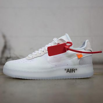 OFF-White x Nike Air Force Woman Men Fashion Old Skool Sneakers Sport Shoes