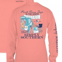 Simply Southern Tailgate Long Sleeve- Salmon