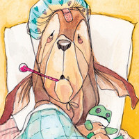 Get Well Pup Card