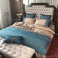 4Pcs Classic New Design Duvet Cover Bed Sheet Sets