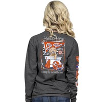 """Simply Southern """"Tailgates & Touchdowns"""" Long Sleeve Tee"""